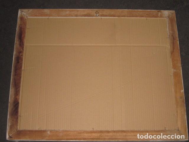 Antigüedades: marco espejo estilo isabelino blanco medida 57 x 46 - Foto 4 - 111448943