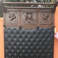 Antigüedades: BASTONERO PERCHERO DE MADERA TALLADA. Lote 111448951