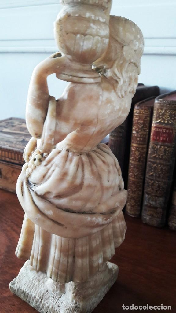 Antigüedades: Escultura de niña en alabastro del siglo XIX - Foto 2 - 111450335