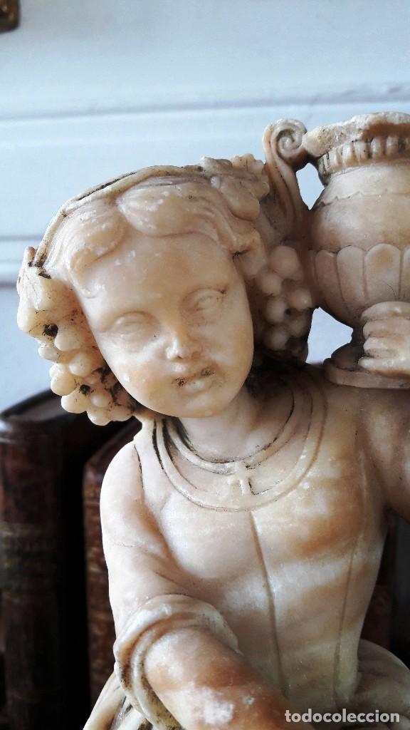 Antigüedades: Escultura de niña en alabastro del siglo XIX - Foto 3 - 111450335