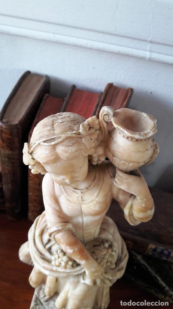 Antigüedades: Escultura de niña en alabastro del siglo XIX - Foto 4 - 111450335