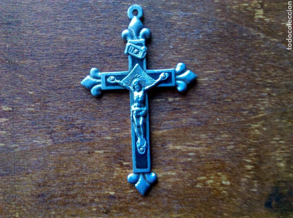 ANTIGUO CRUCIFIJO CRUZ PLATA ? (Antigüedades - Religiosas - Crucifijos Antiguos)