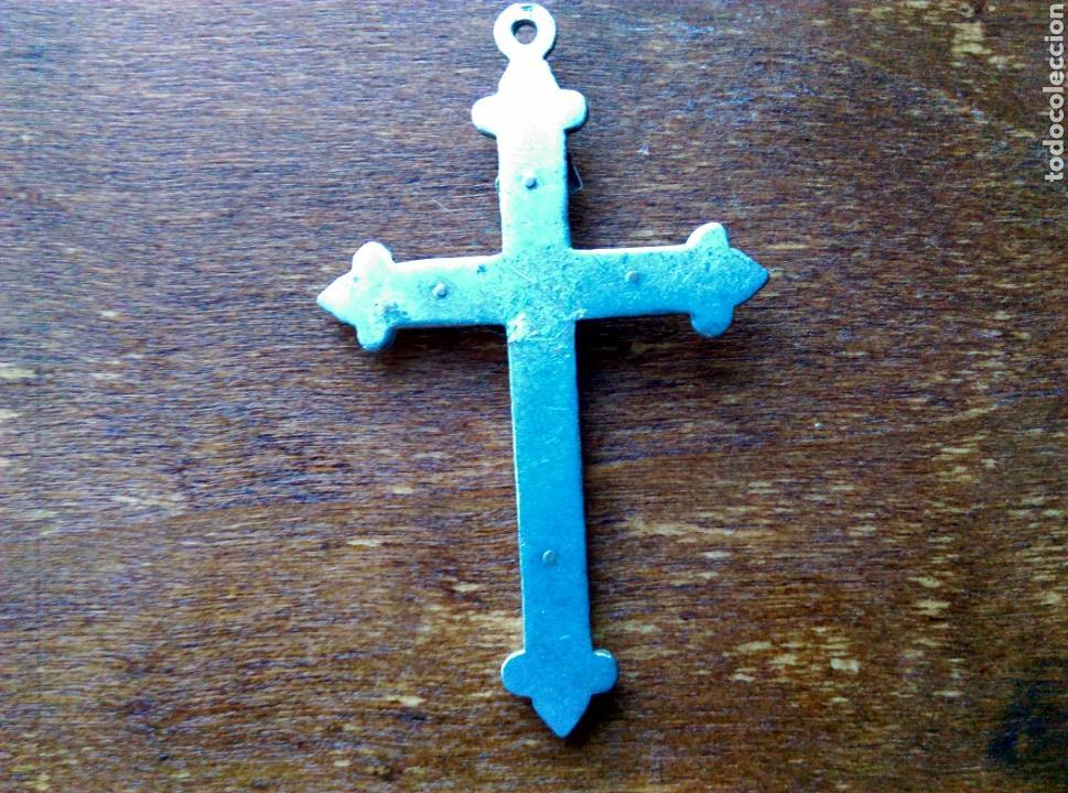 Antigüedades: Antiguo crucifijo cruz plata ? - Foto 2 - 111456546
