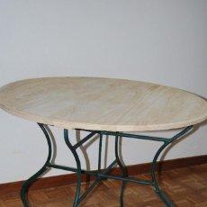 Antigüedades: ANTIGUA MESA DE JARDÍN DE HIERRO - PLEGABLE. Lote 111456739