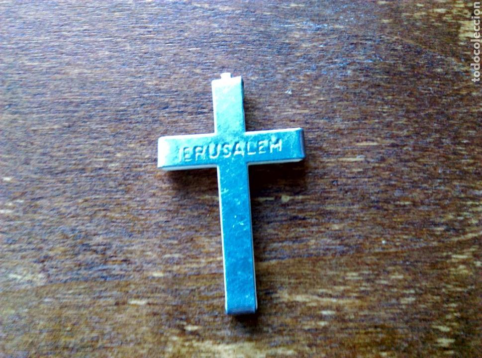 Antigüedades: Antigua Cruz crucifijo nácar plata? - Foto 2 - 111460680