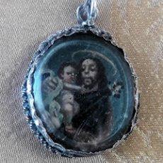 Antigüedades: MEDALLA DEVOCIONAL O RELICARIO DEL SIGLO XVIII. Lote 111463663