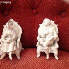 Antigüedades - Pareja biscuit - 111474599