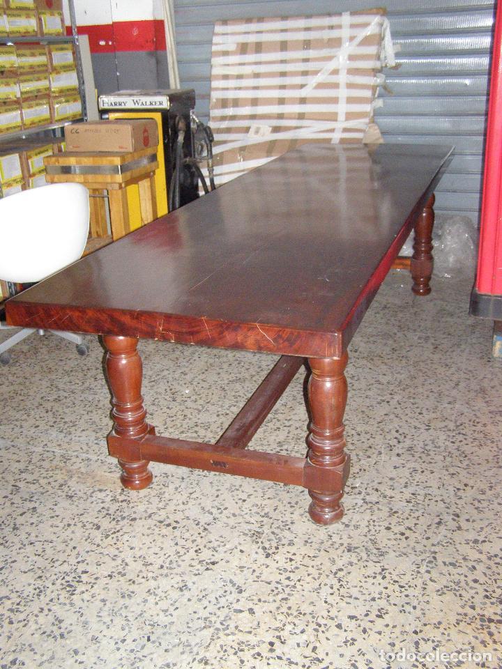 MESA DE MADERA DE BUBINGA DE ANTIGUA BODEGA (Antigüedades - Muebles Antiguos - Mesas Antiguas)