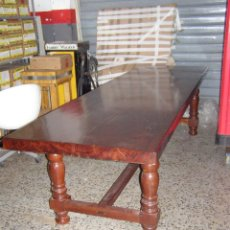 Antigüedades: MESA DE MADERA DE BUBINGA DE ANTIGUA BODEGA. Lote 111475219