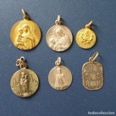 Antigüedades: LOTE DE 6 MEDALLAS RELIGIOSAS. Lote 111493735