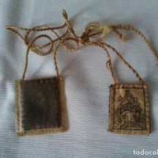 Antigüedades: 72-ANTIGUO ESCAPULARIO, VIRGEN CON NIÑO. Lote 111503227