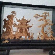 Antigüedades: MAGNIFICA HURAN DE ESCULTURAS HECHAS A MANO EM MADERA MAD CHINA SELADO SAN YDU MAD CHINA. Lote 111504563
