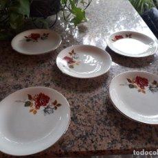 Antigüedades: ANTIGUO JUEGO DE 5 PLASTOS, SELLADOS. Lote 111516323