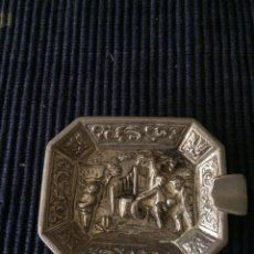 Antigüedades: CENICERO ALPACA ANTIGUO. Lote 111518883