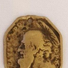 Antigüedades: MEDALLA DE BRONCE SAN PEDRO Y SAN PABLO. OCHAVADA SIGLO XVII. Lote 111519639