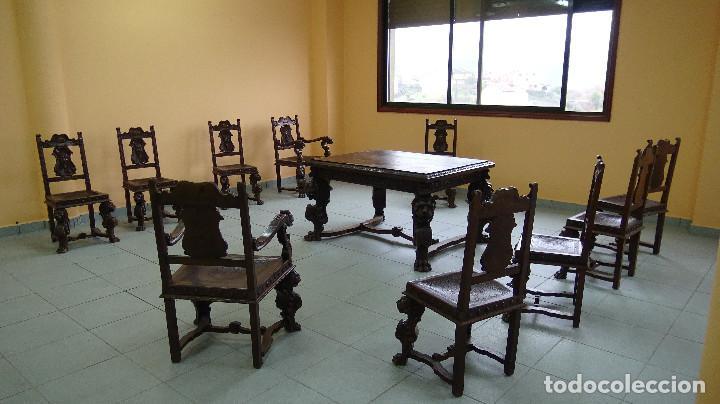 juego de comedor mesa, 8 sillas y dos butacones - Comprar Mesas ...