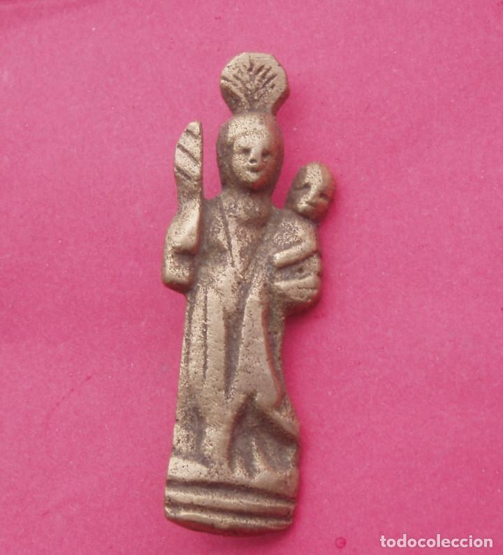 MEDALLA ANTIGUA SAN ANTONIO DE PADUA. 5,7 CM DE LARGO. (Antigüedades - Religiosas - Medallas Antiguas)