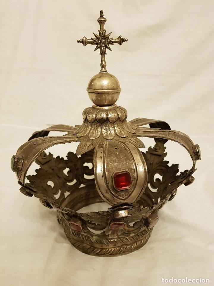 Antigüedades: Coronas para Virgen y Niño. Plata. Finales siglo XVIII. Punzones Quintana y Haro (La Rioja) - Foto 3 - 111544335