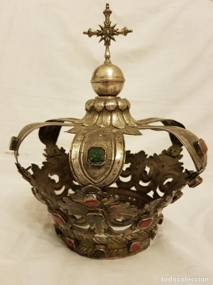 Antigüedades: Coronas para Virgen y Niño. Plata. Finales siglo XVIII. Punzones Quintana y Haro (La Rioja) - Foto 4 - 111544335