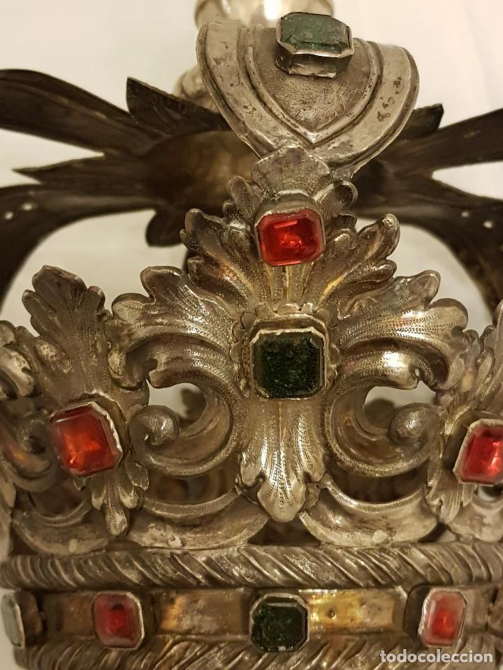 Antigüedades: Coronas para Virgen y Niño. Plata. Finales siglo XVIII. Punzones Quintana y Haro (La Rioja) - Foto 16 - 111544335