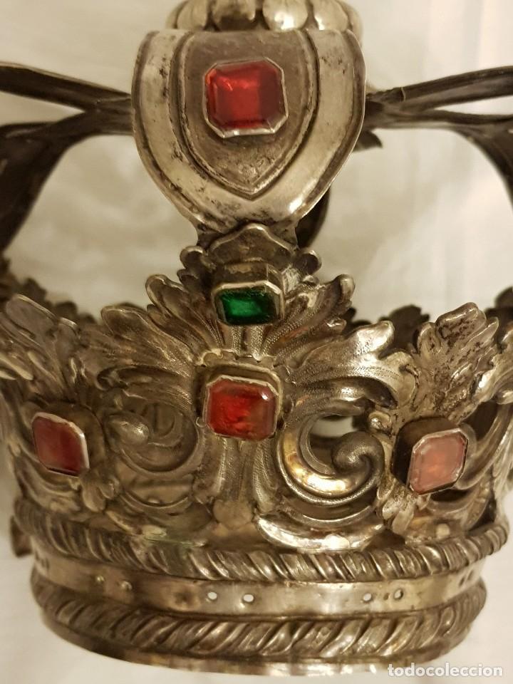 Antigüedades: Coronas para Virgen y Niño. Plata. Finales siglo XVIII. Punzones Quintana y Haro (La Rioja) - Foto 19 - 111544335