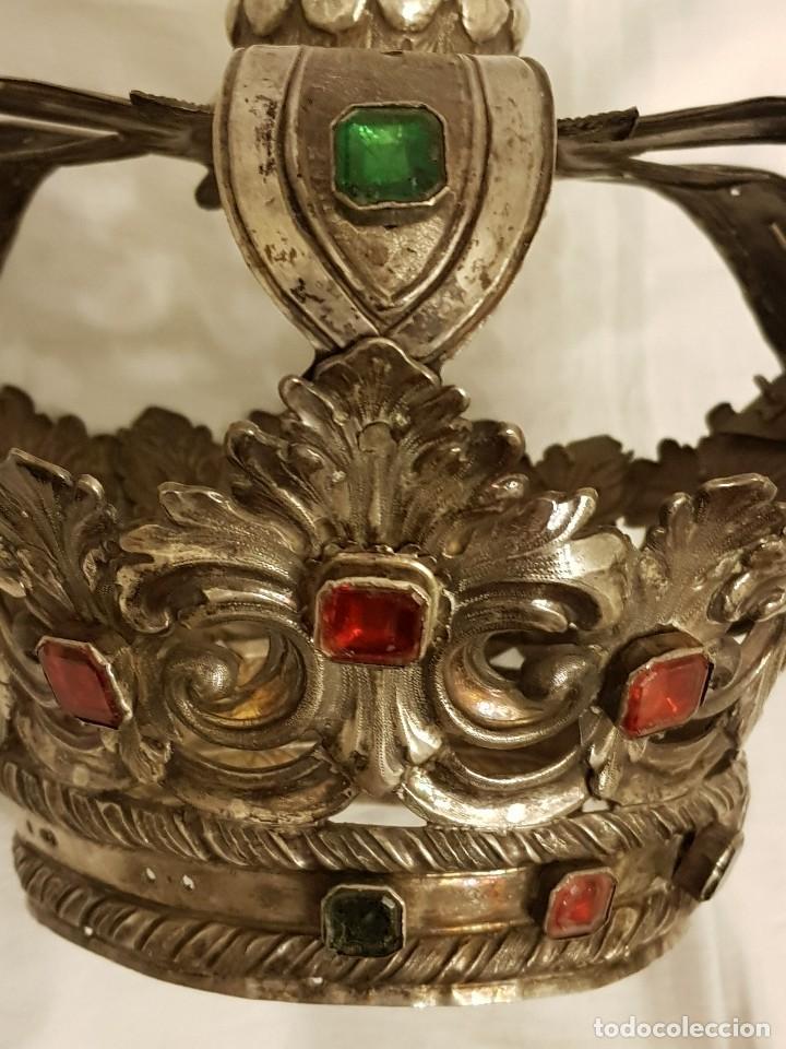 Antigüedades: Coronas para Virgen y Niño. Plata. Finales siglo XVIII. Punzones Quintana y Haro (La Rioja) - Foto 21 - 111544335
