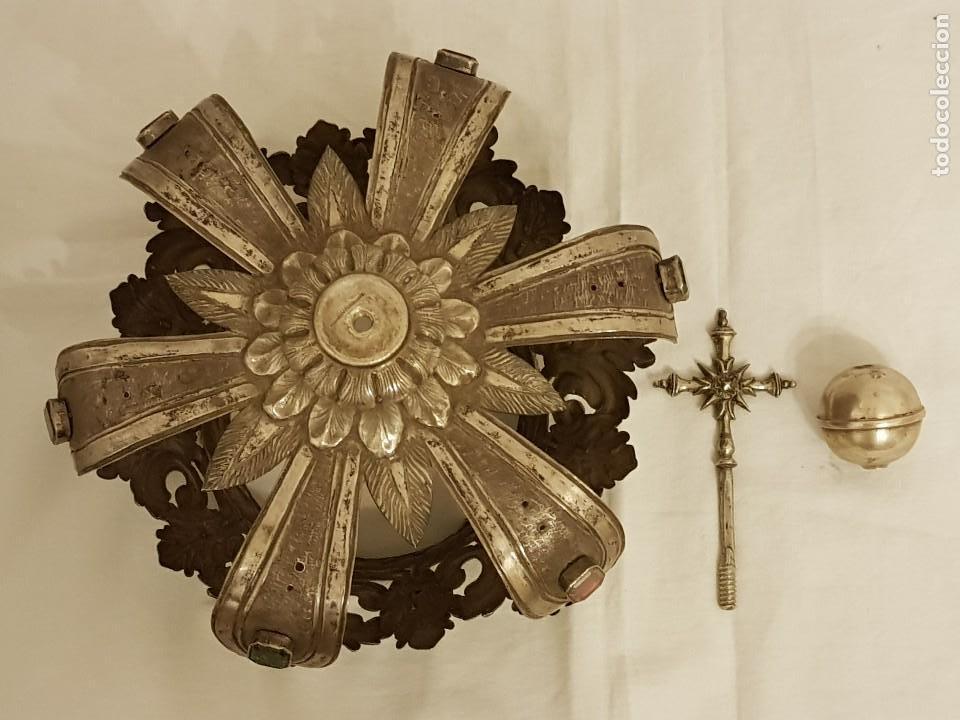 Antigüedades: Coronas para Virgen y Niño. Plata. Finales siglo XVIII. Punzones Quintana y Haro (La Rioja) - Foto 26 - 111544335