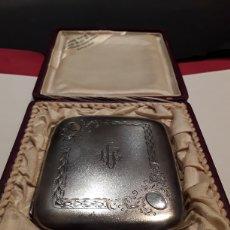 Antigüedades: PITILLERA EN PLATA CONTRASTADA EN SU ESTUCHE ORIGINAL PRINCIPIOS S.XX. Lote 111574095
