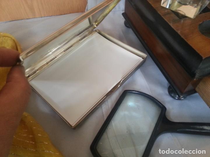 Antigüedades: Escribanía en madera. Conjunto de escribanía de los años 60. Con complementos. - Foto 4 - 111579467