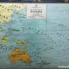 Antigüedades: MAPA FÍSICO Y POLÍTICO DE OCEANÍA, IMPECABLE.. Lote 113438987