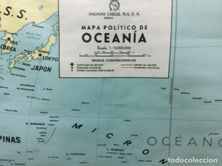Antigüedades: Mapa físico y político de Oceanía, impecable. - Foto 2 - 113438987