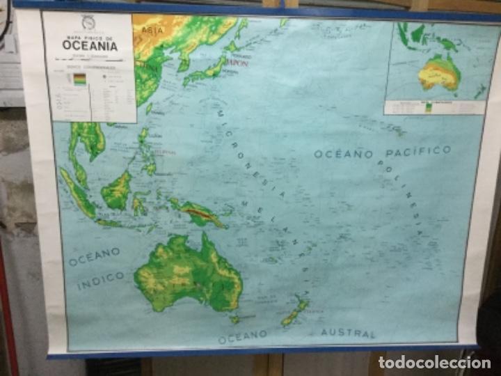 Antigüedades: Mapa físico y político de Oceanía, impecable. - Foto 3 - 113438987