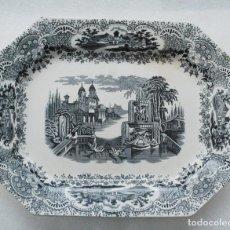Antigüedades: BANDEJA FUENTE CERAMICA 1870 -1899 PICKMAN & CIA SIGLO XIX LA CARTUJA SEVILLA. Lote 111637391