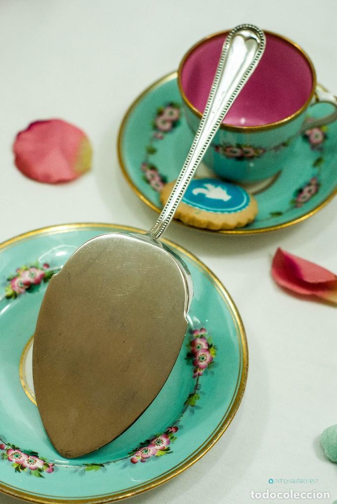 Antiquitäten: Espatula para tartas / servidor / pastel PLATA INGLESA 1900c - Foto 2 - 111641803