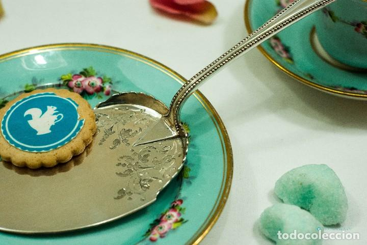 Antiquitäten: Espatula para tartas / servidor / pastel PLATA INGLESA 1900c - Foto 3 - 111641803