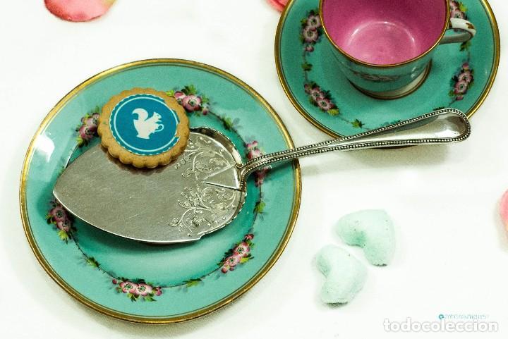 Antiquitäten: Espatula para tartas / servidor / pastel PLATA INGLESA 1900c - Foto 5 - 111641803
