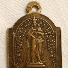 Antigüedades: MEDALLA NUESTRA SEÑORA DEL PILAR Y SANTO CRISTO DE LA SEO. ZARAGOZA. SIGLO XIX.. Lote 111520915