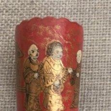 Antigüedades: ANTIGUO PALILLERO O LAPICERO CHINO REALIZADO EN PAPER MACHÉ. S.XIX . Lote 111661159