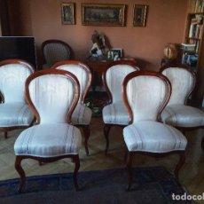 Antigüedades: SILLAS DE COMEDOR ISABELINAS S.XIX. Lote 111666359