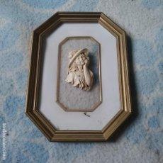 Antigüedades: MARCO ANTIGUO DORADO AL FUEGO, VER FOTOS. Lote 111667079