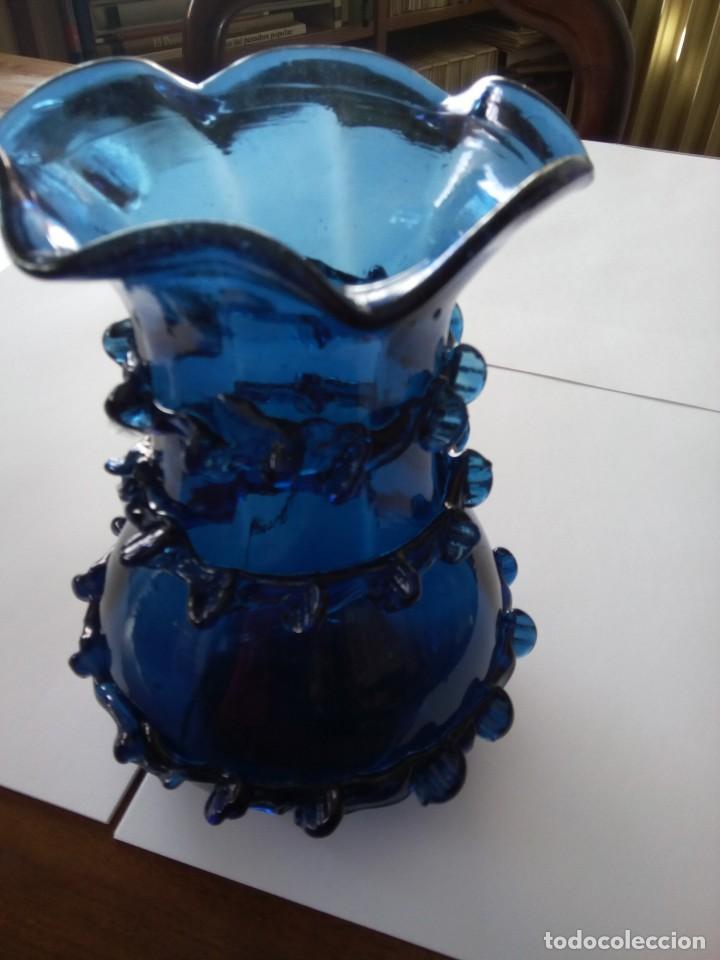 *ANTIGUO JARRÓN .16 CM.CRISTAL MALLORQUIN (RF:253/G) (Antigüedades - Cristal y Vidrio - Mallorquín)