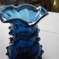 Antigüedades: *ANTIGUO JARRÓN .16 CM.CRISTAL MALLORQUIN (RF:253/G). Lote 111667751