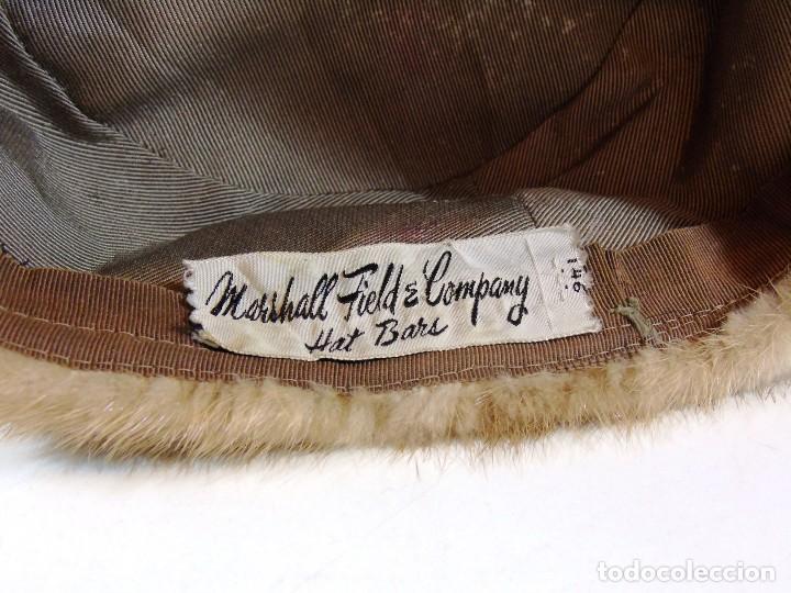 Antigüedades: Antiguo gorro de la firma Marshall Field and Company - Foto 2 - 111673695