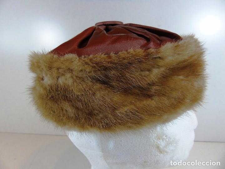 Antigüedades: Antiguo gorro de la firma Marshall Field and Company - Foto 3 - 111673695