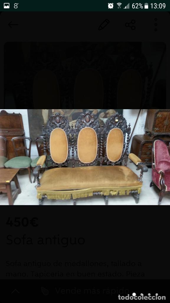SOFÁ (Antigüedades - Muebles Antiguos - Sofás Antiguos)