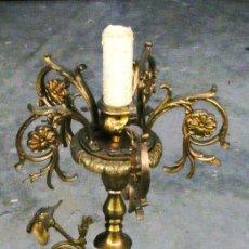 Antigüedades: LAMPARA DE PIE BRONCE, ANTIGUA . Lote 111693027