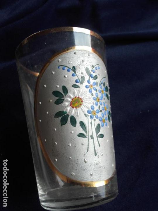 Antigüedades: Vaso cristal esmaltado - Foto 2 - 111700275