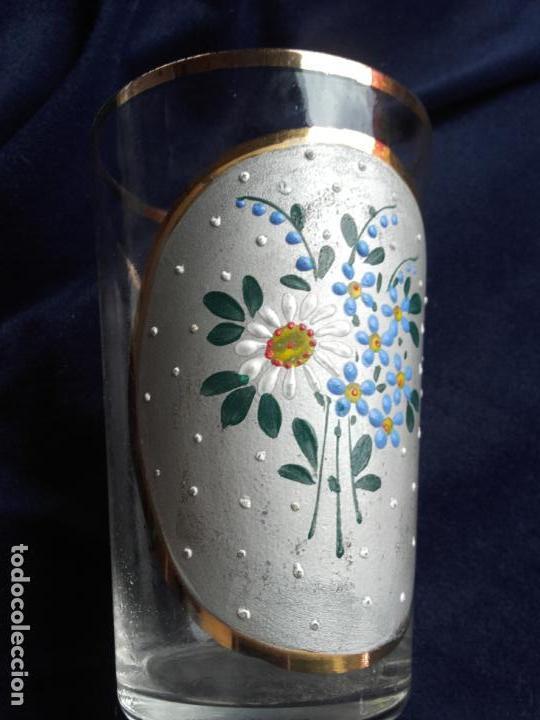 Antigüedades: Vaso cristal esmaltado - Foto 3 - 111700275