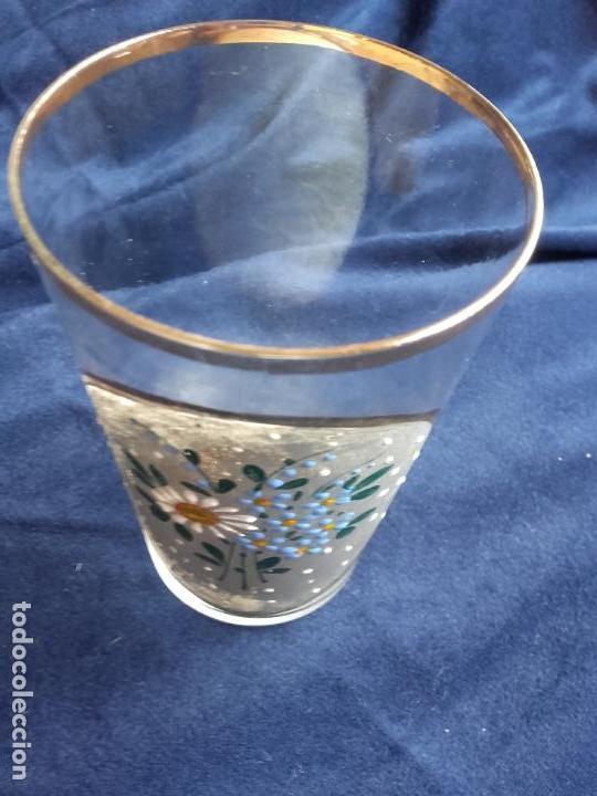 Antigüedades: Vaso cristal esmaltado - Foto 4 - 111700275