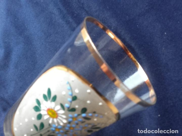 Antigüedades: Vaso cristal esmaltado - Foto 5 - 111700275